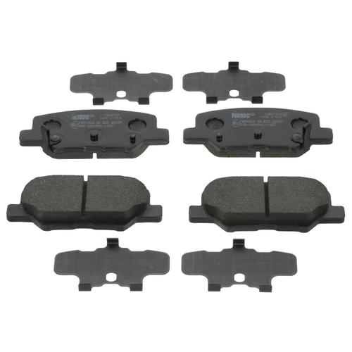 Фото - Дисковые тормозные колодки передние Ferodo FDB4739 для Citroen, Mazda, Mitsubishi, Peugeot (4 шт.) дисковые тормозные колодки передние ferodo fdb1639 для toyota subaru 4 шт