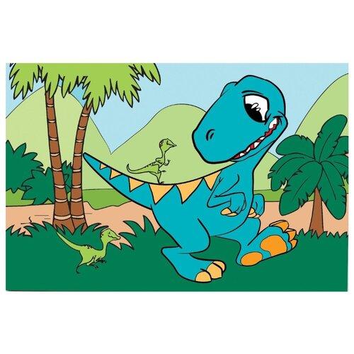 Школа талантов Картина по номерам Динозавр 20х30 см (4971855)