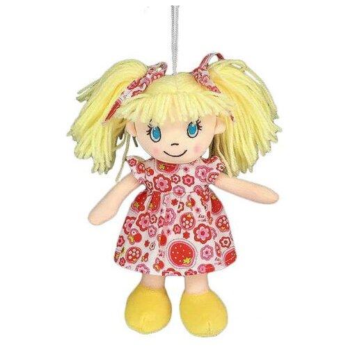 Фото - Мягкая игрушка ABtoys Кукла в платье в цветочек 20 см мягкая игрушка abtoys кукла рыжая в голубом платье 20 см