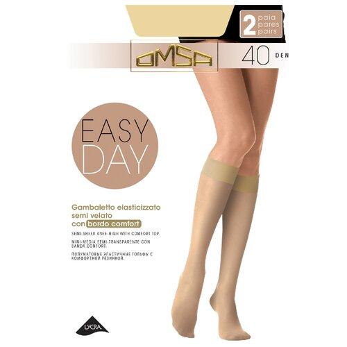 Капроновые гольфы Omsa Gambaletto Easy Day 40 den, 2 пары, размер 1/2 (S/M), daino