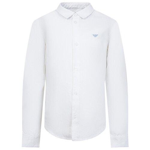 Рубашка EMPORIO ARMANI размер 128, белый рубашка emporio armani размер 128 синий