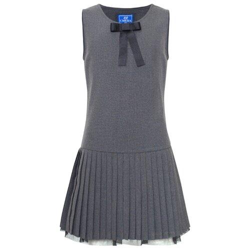 Купить Сарафан Смена размер 164/84, серый, Платья и сарафаны