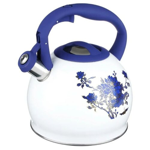 Vetta Чайник Синие цветы 847071 2.7 л, белый/синий