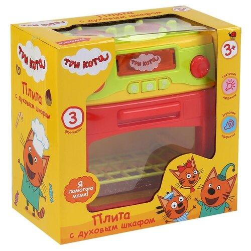 Купить Плита Играем вместе Три кота B1419392-R желтый/красный, Детские кухни и бытовая техника
