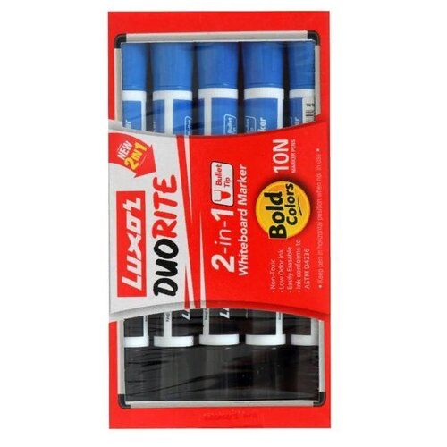 Купить Luxor набор двусторонних маркеров для доски Duorite, 10 шт., Маркеры