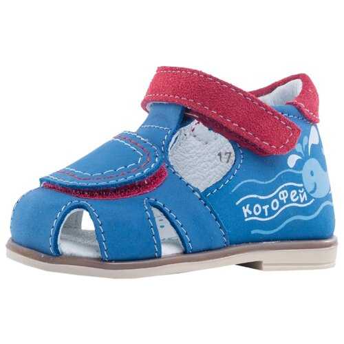 Фото - Сандалии КОТОФЕЙ размер 17, 21 синий/красный сандалии regatta размер 33 синий красный