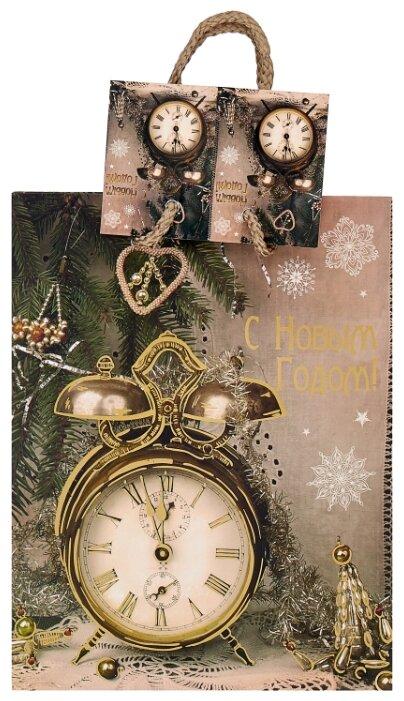 Пакет подарочный Феникс Present Часы-ретро 22.9 х 17.8 х 9.8 см