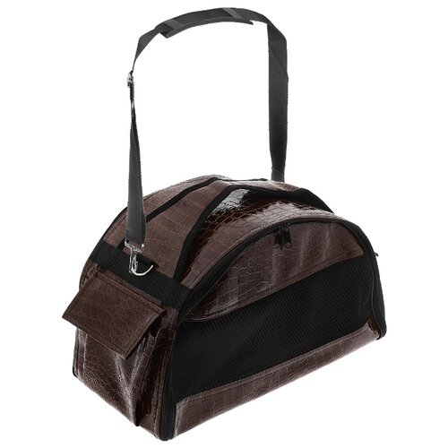 Сумка-переноска для собак Зооник 2249 42х23х25 см коричневый