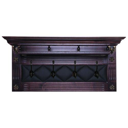Вешалка Мебелик Сильвия Н5 коричневый/темно-коричневый