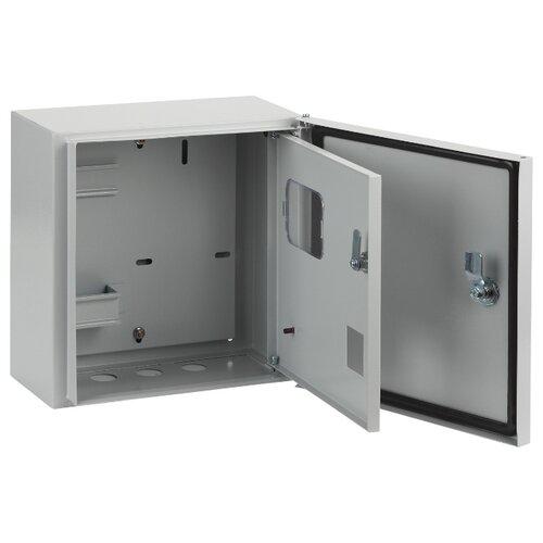 Щит учетный ЭРА ЩУ-1/1-1-76-IP54 навесной, металл, светло-серый щит эра щу 1 1 0 3 ip54 1 дверь