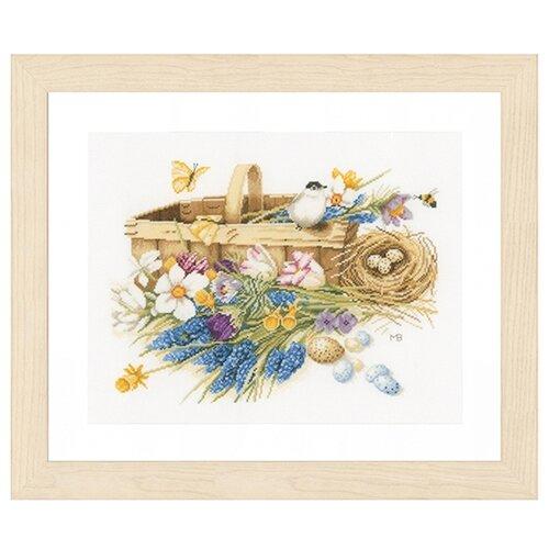 Купить Lanarte Набор для вышивания Корзина весенних цветов 39 x 32 см (0155028-PN), Наборы для вышивания