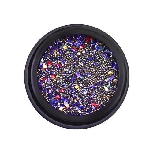 Купить Кристаллы Patrisa Nail Микс для дизайна: мелкие камешки, пикси, бульонки 12 г фиолетовый