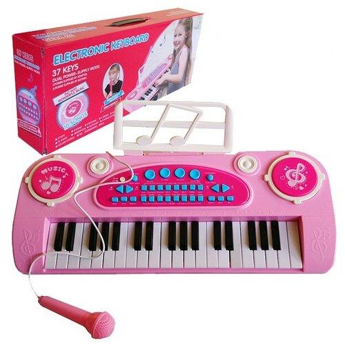 Синтезатор Shantou Gepai 328-03B розовый/белый синтезатор shantou b1549997