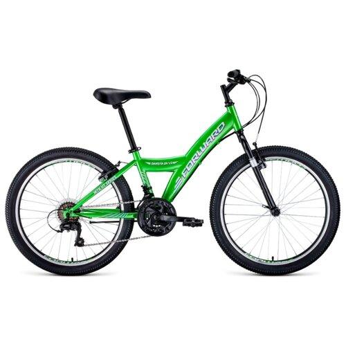 Подростковый горный (MTB) велосипед FORWARD Dakota 24 1.0 (2020) зеленый/белый 13 (требует финальной сборки) подростковый горный mtb велосипед forward dakota 24 1 0 2020 черный 13 требует финальной сборки