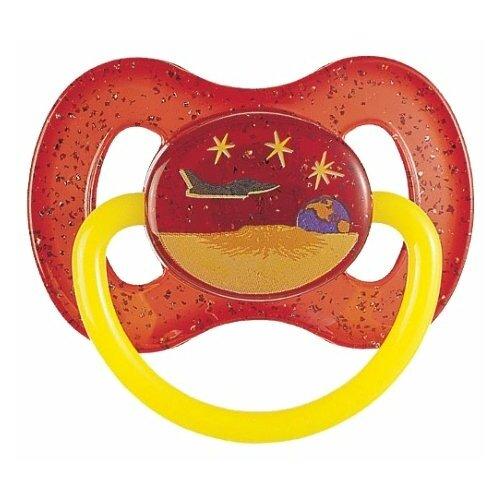 Купить Пустышка силиконовая классическая Canpol Babies Space 0-6 м (1 шт) красный, Пустышки и аксессуары