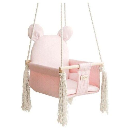 Фото - Качели Leader toys подвесные Sweet Bear, бледно-розовый качели подвесные orion sweet bear цвет ванильный крем 70804