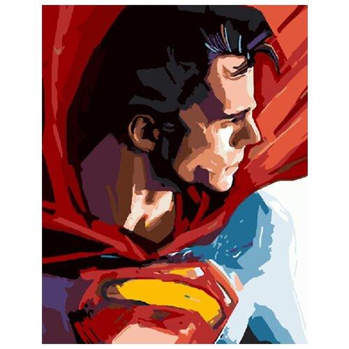 Купить Картина по номерам ВанГогВоМне ZX 20361 Супермэн 40х50 см, Картины по номерам и контурам