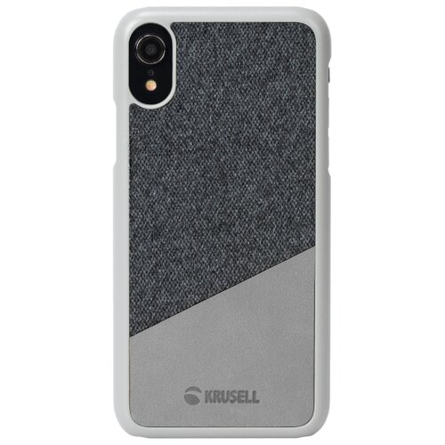 Купить Чехол Krusell Tanum Cover для Apple iPhone XR серый