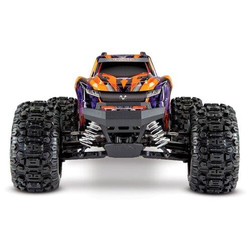 Купить Монстр-трак Traxxas Hoss 4x4 VXL (90076-4) 1:10 51.4 см оранжевый/фиолетовый, Радиоуправляемые игрушки