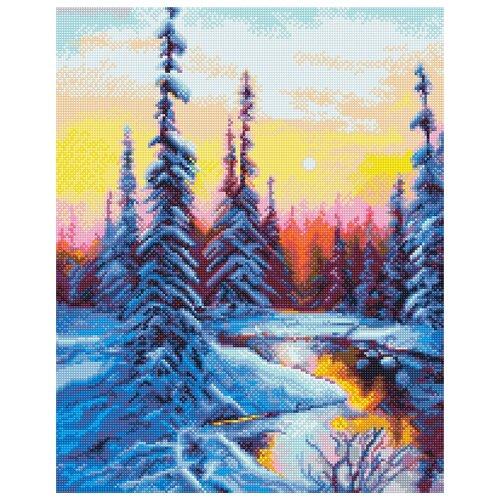 Купить Алмазная вышивка ФРЕЯ, ALVK-42, Зимнее утро 40 х 50см, Алмазная мозаика