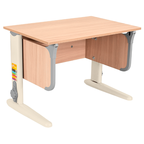 Купить Стол ДЭМИ СУТ-48 50x75 см ясень/серый/бежевый, Парты и столы
