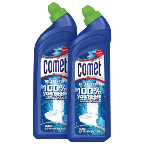 Comet гель для туалета Expert океан, 2 шт., 0.7 л недорого