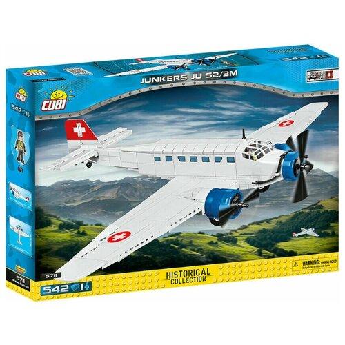 Конструктор Cobi Cold War 5711 Военный транспортный самолет Junkers Ju-52 / 3m конструктор cobi самолет boeing 787 dreamliner