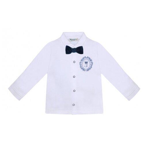 Рубашка Жанэт, размер 80, белый/синий