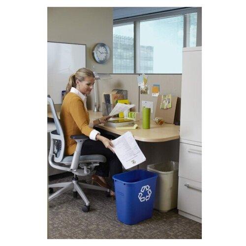 Корзина для мусора прямоугольная офисная Soft Wastebaskets 26,6 л., Синий, Rubbermaid