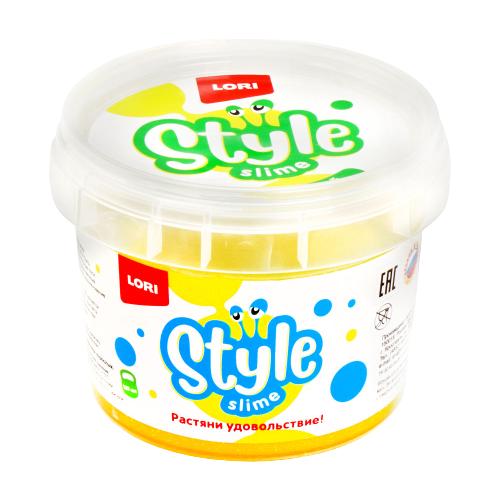 Лизун LORI Style Slime блестящий с ароматом банана желтый