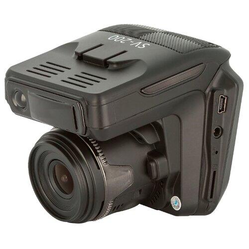 Видеорегистратор с радар-детектором Subini SV-200 2 камеры GPS черный.