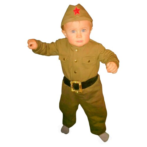 Купить Костюм Страна Карнавалия Военный (3270111-3270113), хаки, размер 80, Карнавальные костюмы