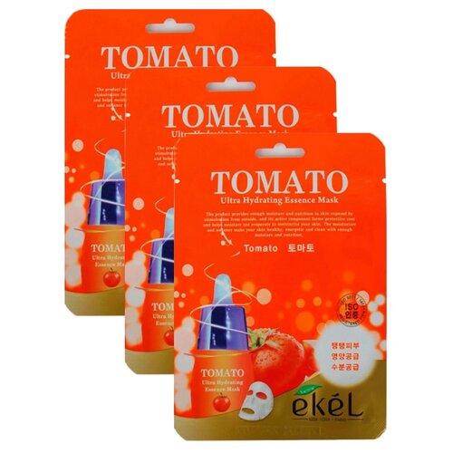 цена на Ekel Маска тканевая Ultra Hydrating Essence Mask с экстрактом томата, 25 мл, 3 шт.