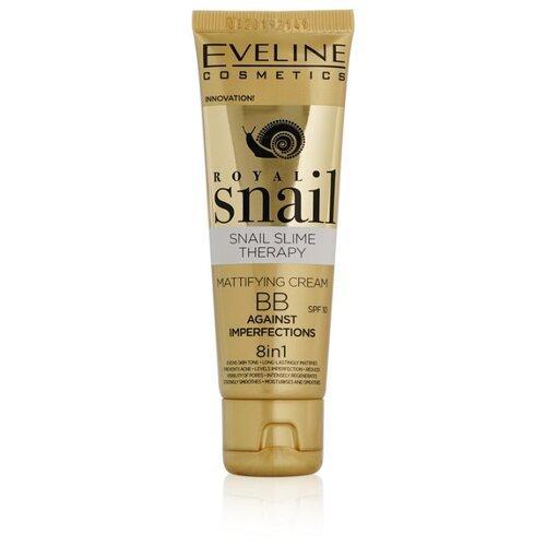 Eveline Cosmetics BB крем Royal Snail, SPF 10, 50 мл, оттенок: универсальный, 1 шт. klapp bb крем cuvee prestige spf 8 30 мл оттенок универсальный