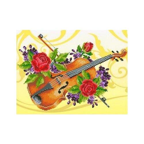 Купить Скрипка Рисунок на ткани 36, 5х27, 6 Каролинка ТКБЛ 3018, Канва