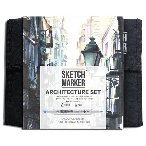 SketchMarker Набор маркеров Architecture Set, 36 шт., Фломастеры  - купить со скидкой