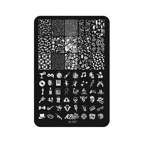 Купить Трафарет KLIO Professional №037 11 х 15 см black
