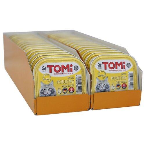 Влажный корм для кошек ToMi с птицей, с печенью 32шт. х 100 г- преимущества, отзывы, как заказать товар за 2528 руб. Бренд ToMi