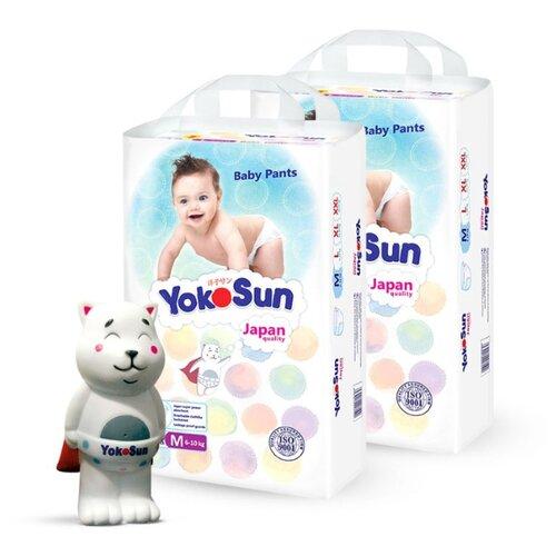 Фото - YokoSun трусики M (6-10 кг) 116 шт + игрушка для ванной котик Йоко yokosun трусики xl 12 20 кг 76 шт игрушка для ванной котик йоко