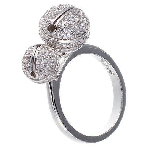 ELEMENT47 Кольцо из серебра 925 пробы с кубическим цирконием SR-B01720_001_WG, размер 18.25