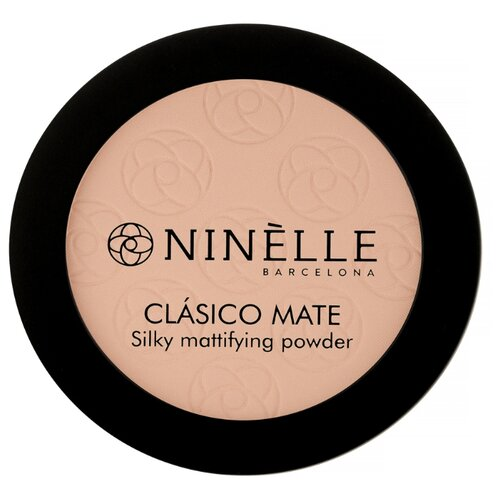 Ninelle Пудра компактная CLASICO MATE 202, розово-бежевый