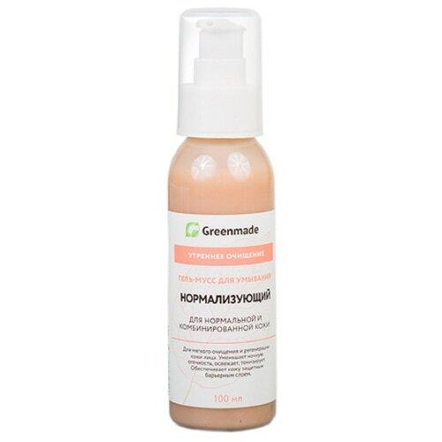 Greenmade гель-мусс для умывания Нормализующий, 100 мл гель для ежедневного умывания cleanmat 225 мл premium home work