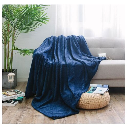 Плед Cleo Royal plush 180 х 200 см, синий плед estro vaniglia 220 х 200 см