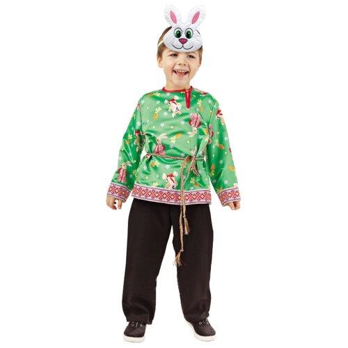 Купить Костюм Батик Заяц Митенька (1010 к-18), черный/зеленый, размер 104-52, Карнавальные костюмы