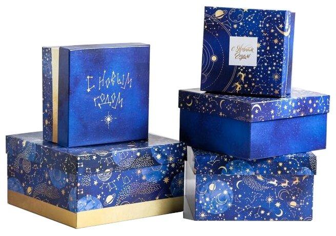 Набор подарочных коробок Дарите счастье Космос, 5 шт. — купить по выгодной цене на Яндекс.Маркете