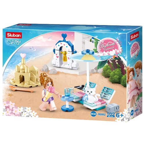 Купить Конструктор SLUBAN Розовая мечта M38-B0862 Райский пляж, Конструкторы