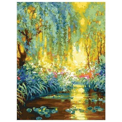 Купить Майское утро в Живерни живопись на холсте 30*40см 30х40 Белоснежка 223-AS, Картины по номерам и контурам
