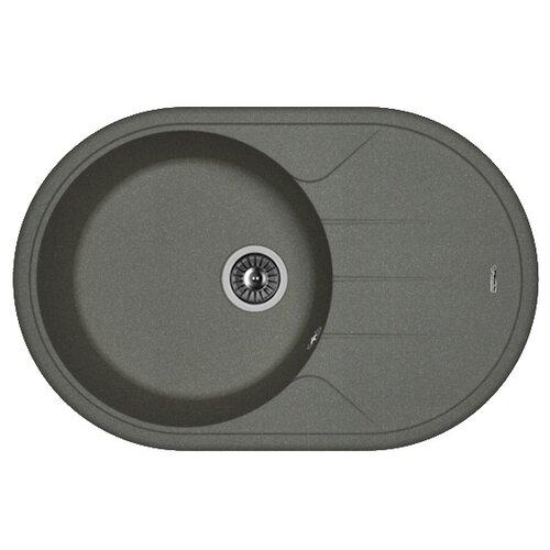 Врезная кухонная мойка 78 см FLORENTINA Лотос 780 FG 20.295.C0780.102 черный