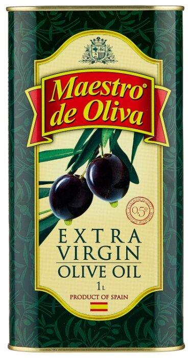 Купить Maestro De Oliva Масло оливковое Extra Virgin, жестяная банка 1 л по низкой цене с доставкой из Яндекс.Маркета (бывший Беру)