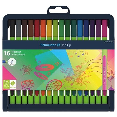 Купить Schneider Набор капиллярных ручек Line-Up, 0.4 мм, 16 шт. (191092), разноцветный цвет чернил, Ручки